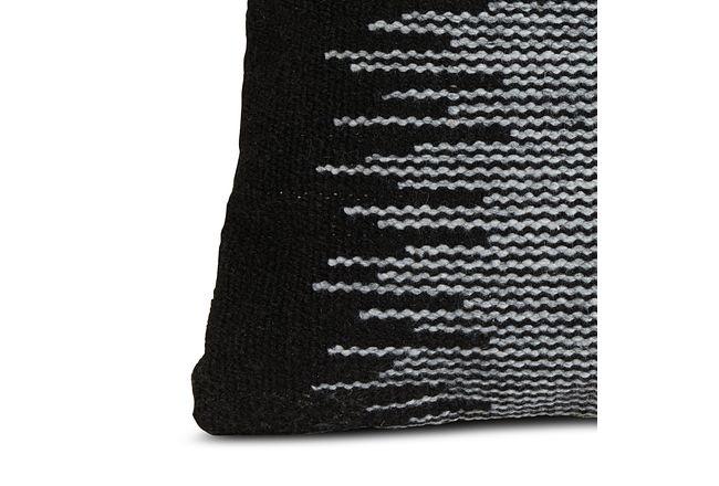 Scorta Dark Gray Square Accent Pillow