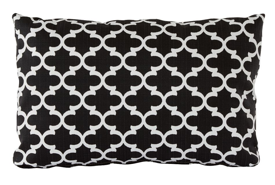 Fulton Black Lumbar Indoor/outdoor Accent Pillow