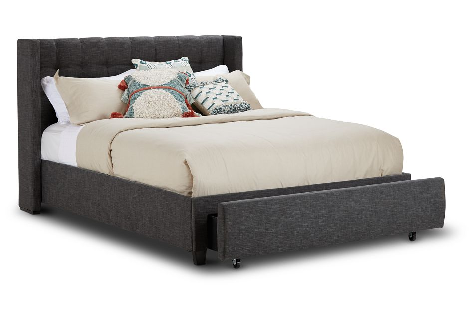 Chatham Dark Gray Low Platform Storage Bed