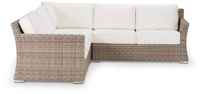 Raleigh White Woven Small Two-arm Sectional (0)