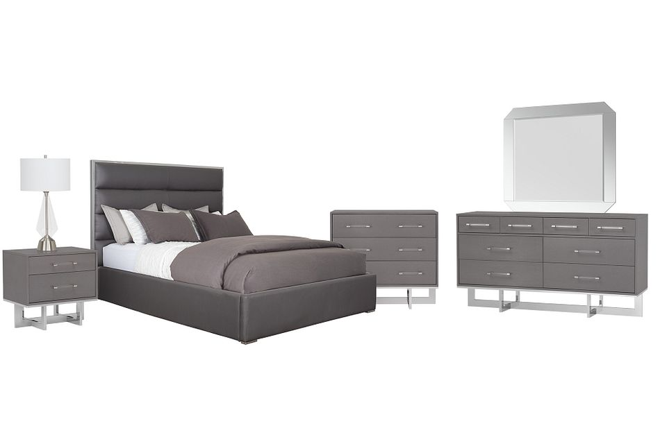 Cortina Gray Uph Platform Bedroom Package