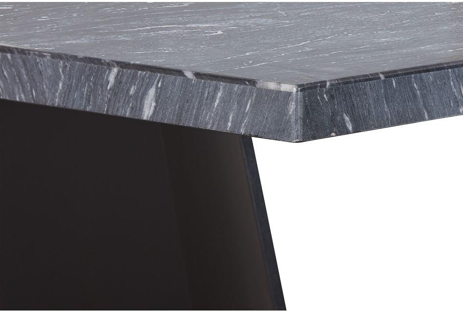 Auburn Dark Gray Marble Rectangular Table,  (3)