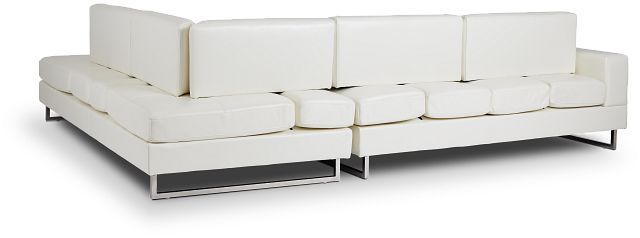 Alec White Micro Right Chaise Sectional