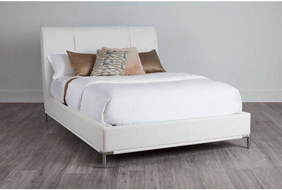 Glacier White Uph Platform Bed