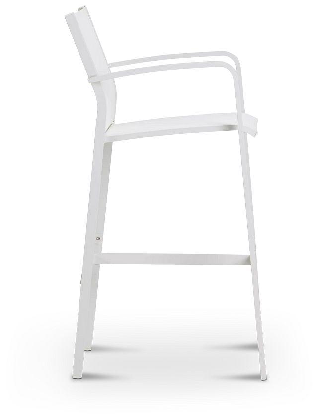 """Lisbon White 30"""" Barstool (3)"""