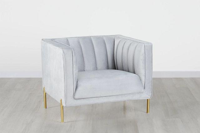 Bella Gray Velvet Chair (0)