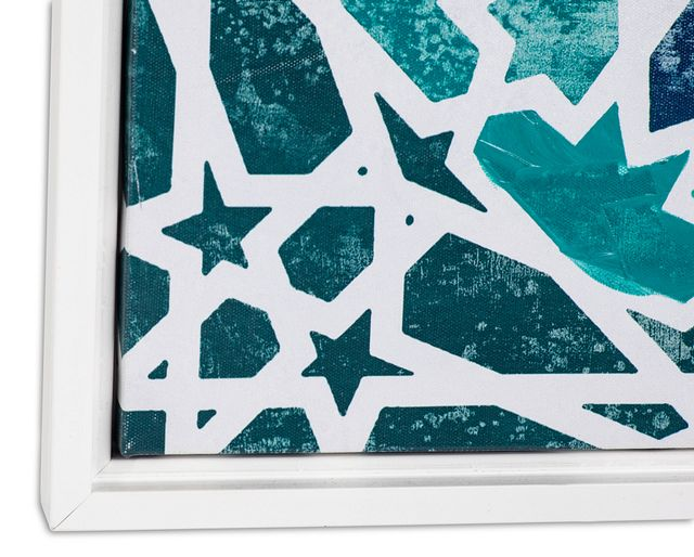 Monika Blue Framed Canvas Wall Art (2)