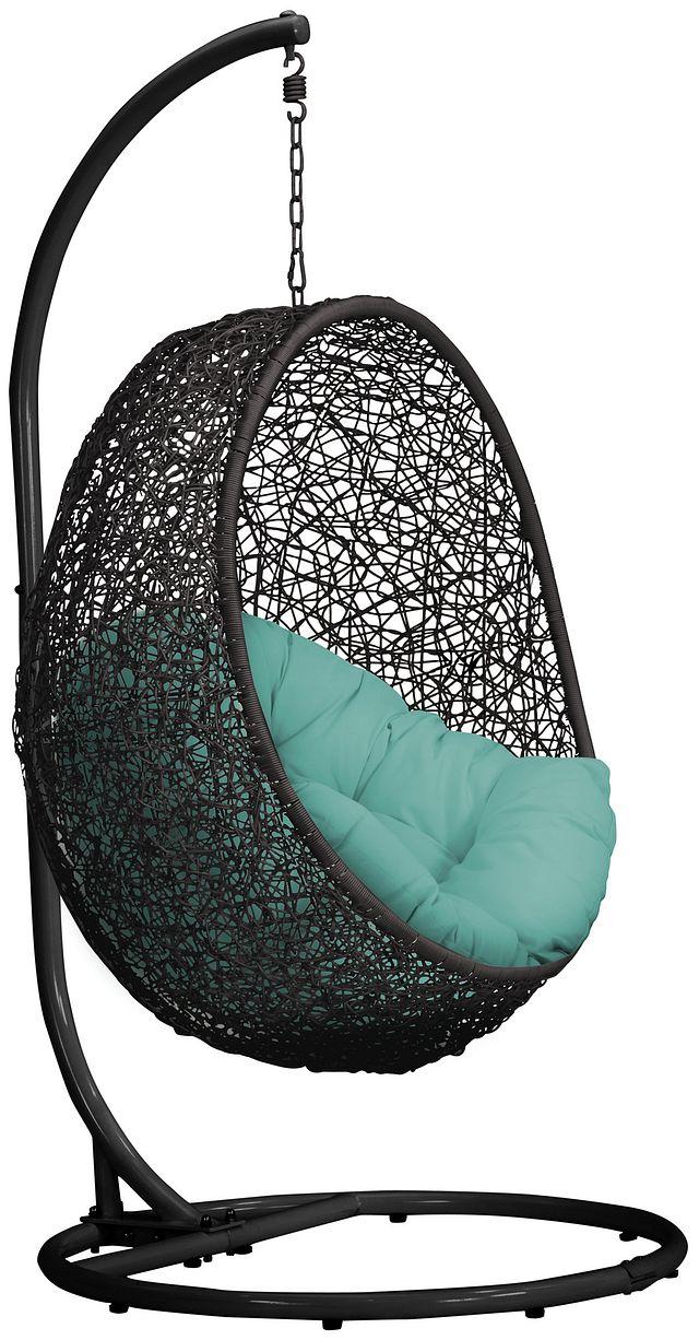 Grate Dark Teal Hanging Chair (2)