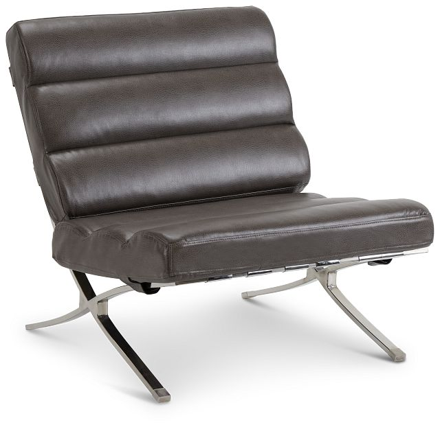 Tatiana Dark Gray Micro Accent Chair (1)