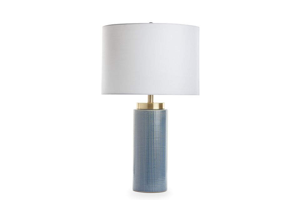 Dalvin Dark Blue Table Lamp