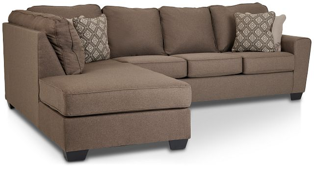 Calicho Dark Taupe Micro Left Chaise Sectional (1)