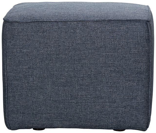 Harper Dark Blue Fabric Accent Pouf (0)