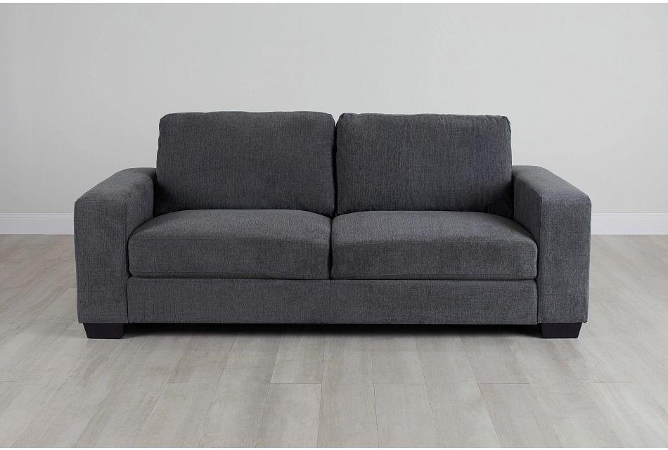 Estelle Dark Gray Fabric Sofa