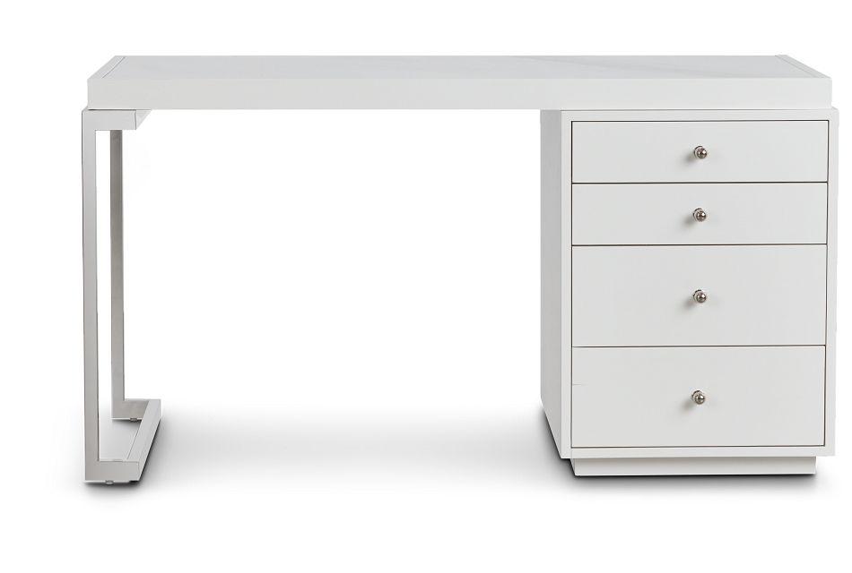 Whitley White Marble Writing Desk,  (1)