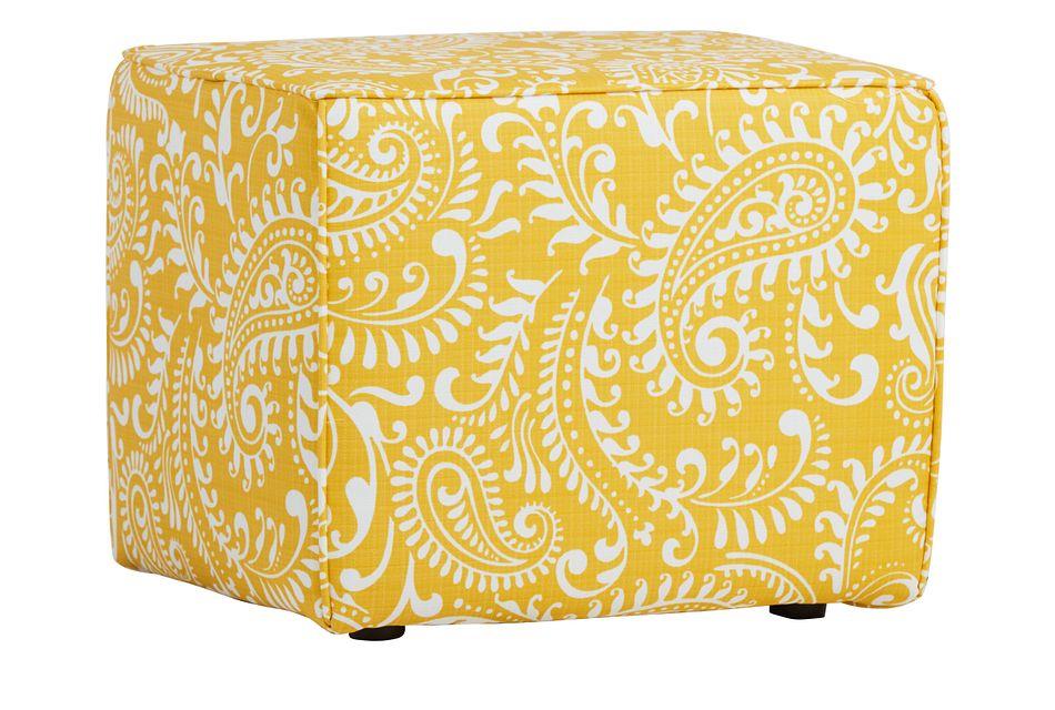 Walker Yellow Indoor/outdoor Accent Ottoman