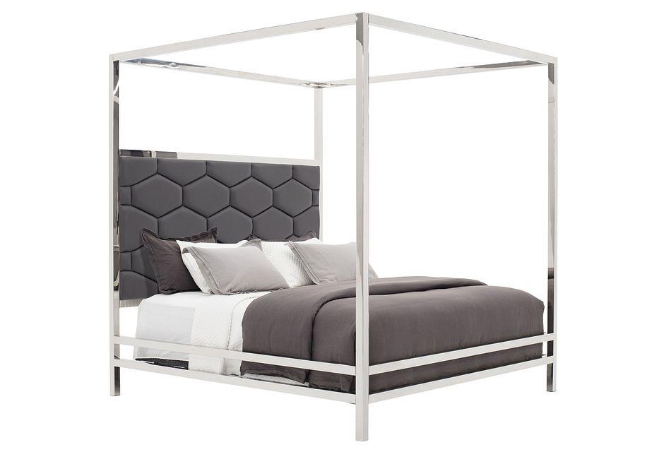 Cortina Gray Canopy Bed