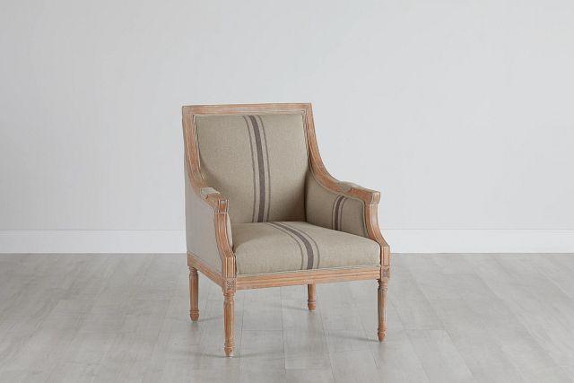 Mckenna Beige Fabric Accent Chair (0)