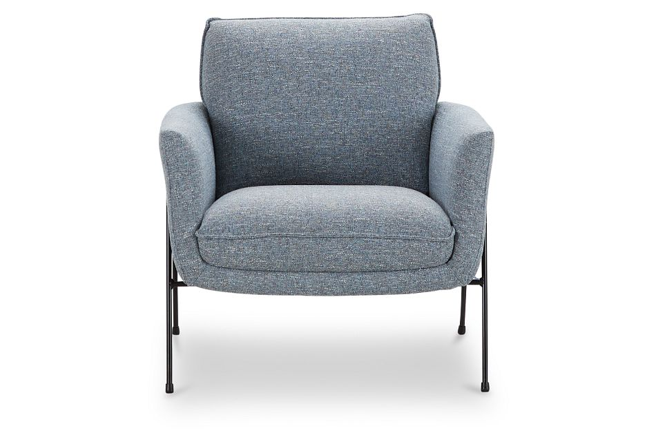 Kace Blue Fabric Accent Chair