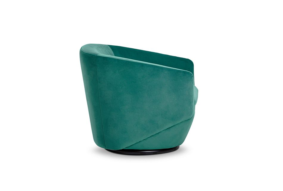 Darian Teal Velvet Swivel Accent Chair