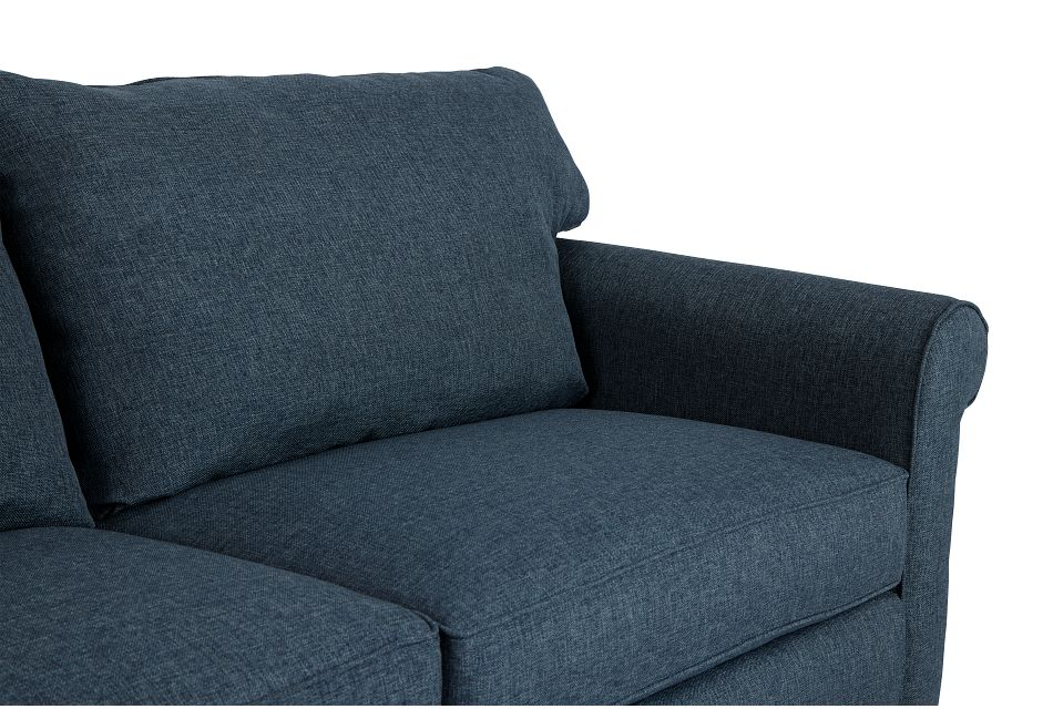 Cameron Blue Fabric Memory Foam Sleeper
