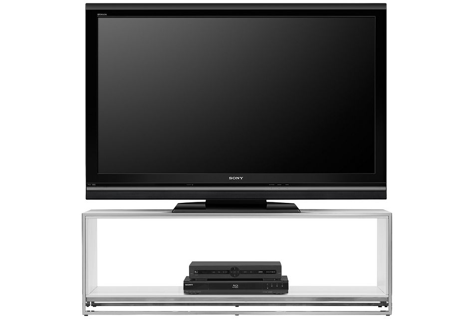 """State Street White 76"""" Tv Stand"""
