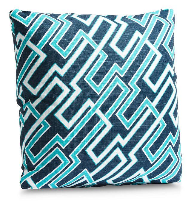 """Jasper Dark Blue 18"""" Indoor/outdoor Accent Pillow (1)"""