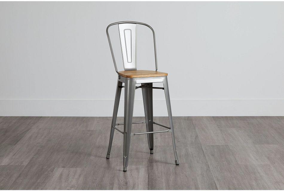"Huntley Light Tone 30"" Wood Barstool,  (0)"