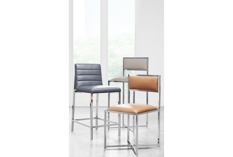 Amalfi Brown Stnl Steel Side Chair