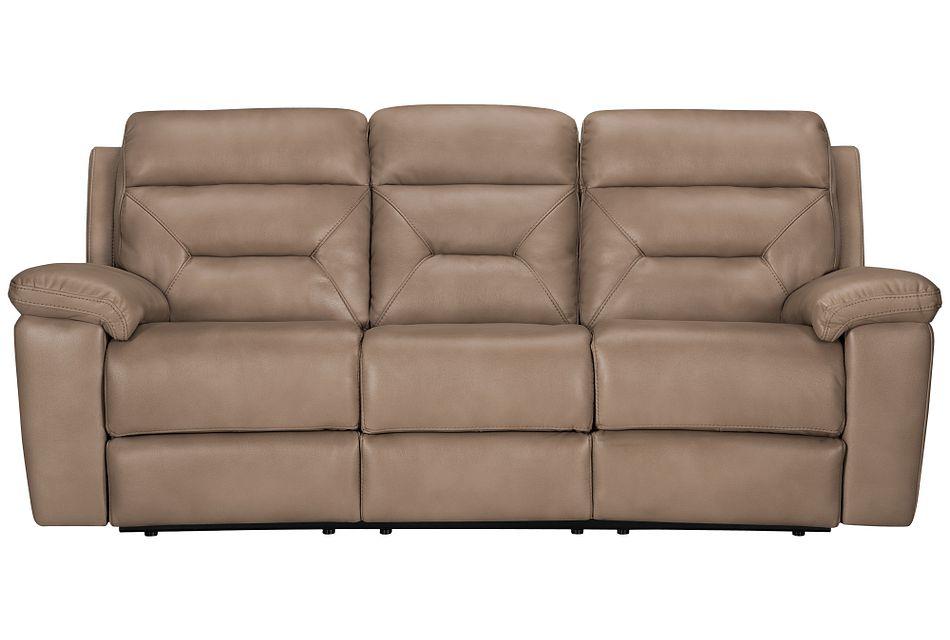 Phoenix Dark Beige  Micro Power Reclining Sofa,