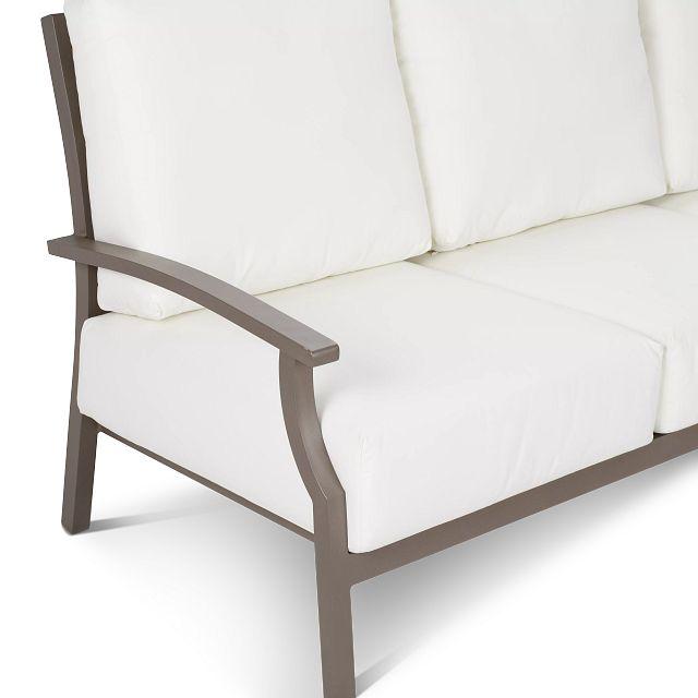 Raleigh White Aluminum Sofa (3)