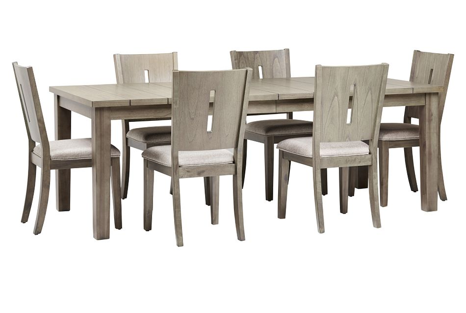 Sienna Gray Rect Table & 4 Wood Chairs,  (1)