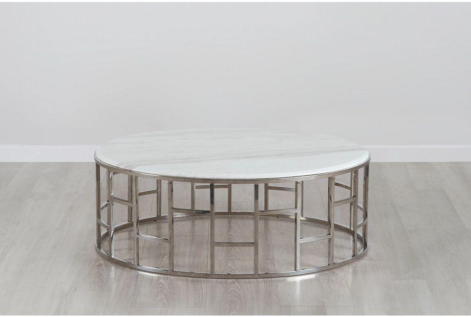 Koda Marble Round Coffee Table