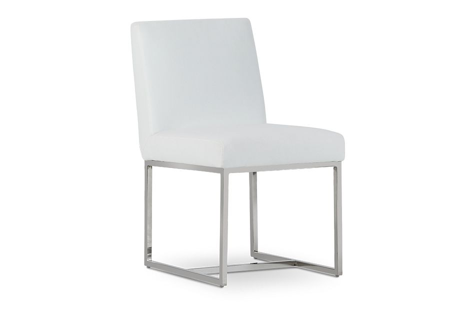 Miami White Fabric Upholstered Side Chair