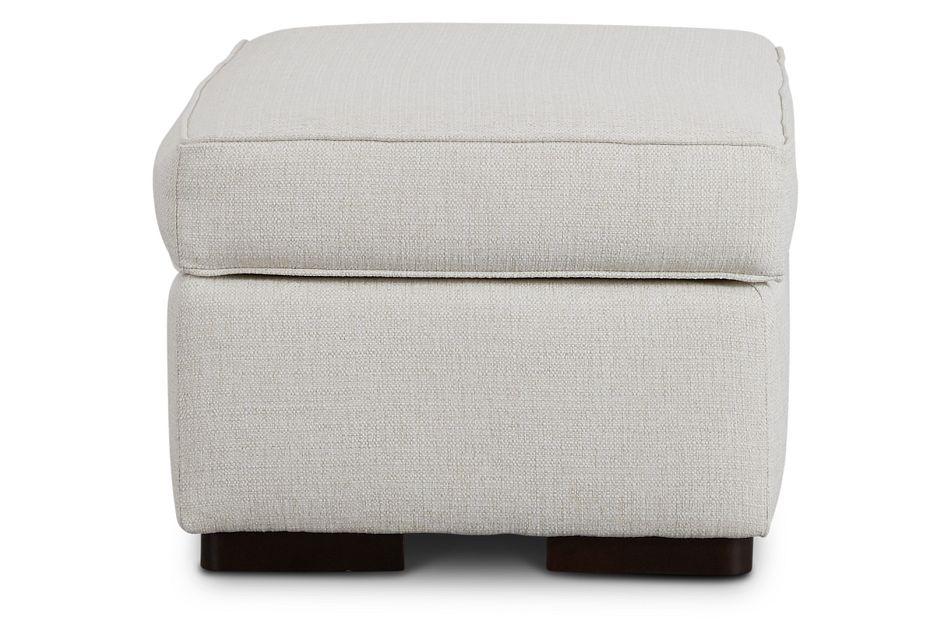 Austin White Fabric Ottoman,  (2)