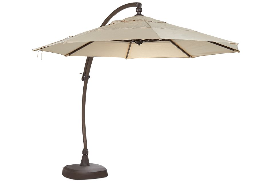 Cayman Khaki Cantilever Umbrella Set