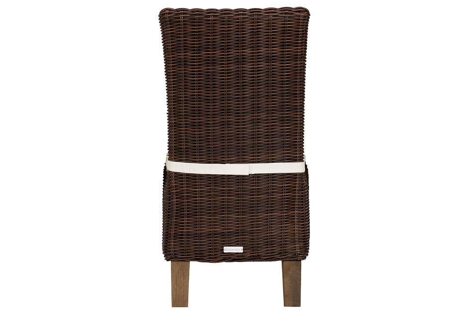 Canyon Dark Brown White Woven Side Chair