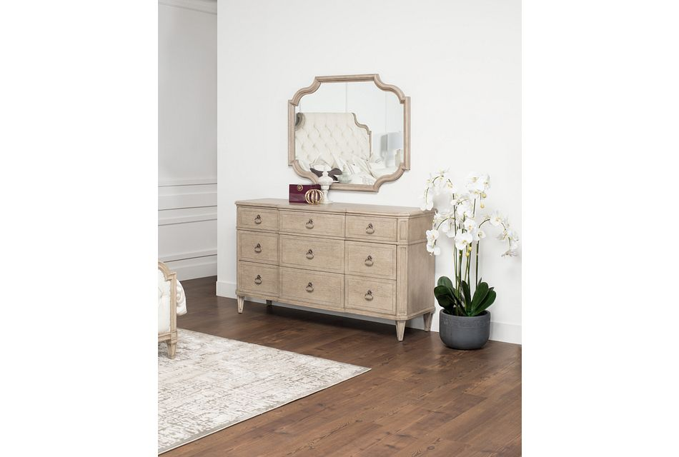 Marquesa Gray Wood Dresser & Mirror