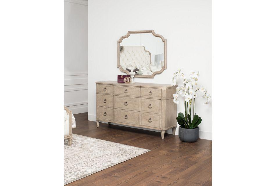 Marquesa Gray Wood Dresser & Mirror,  (1)