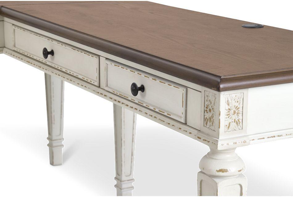 Realyn2 Two-tone Lift-top Return Desk