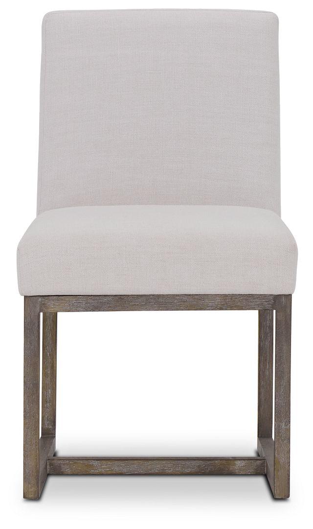 Berlin White Upholstered Side Chair (3)
