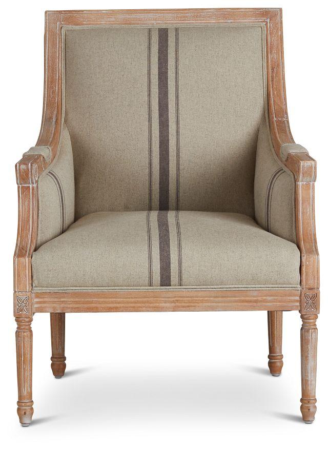 Mckenna Beige Fabric Accent Chair (3)