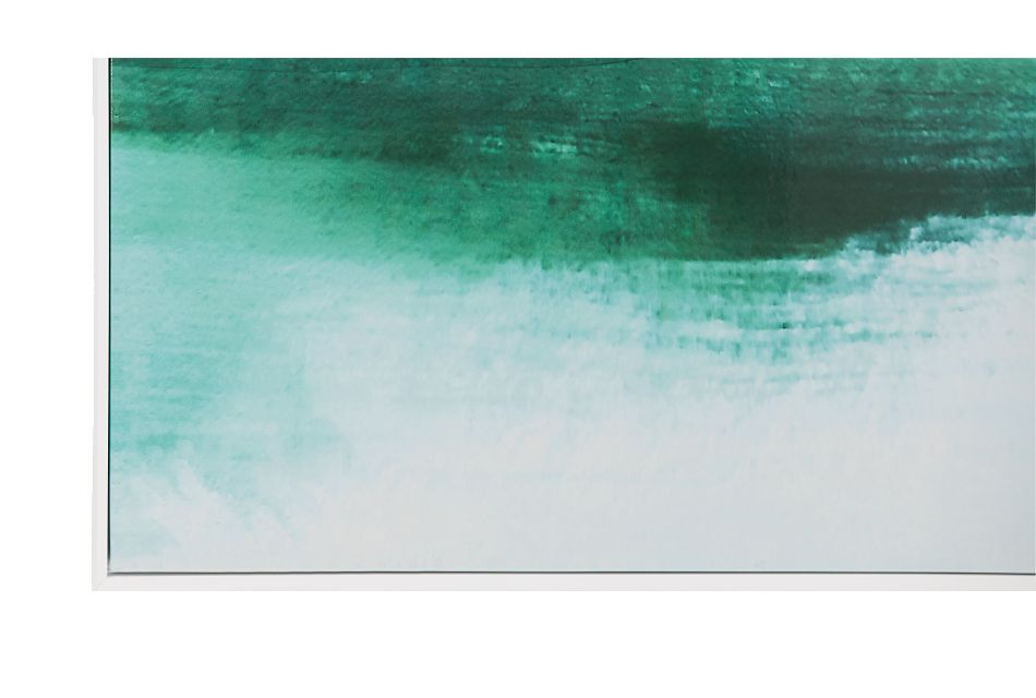 Washed Green Framed Wall Art