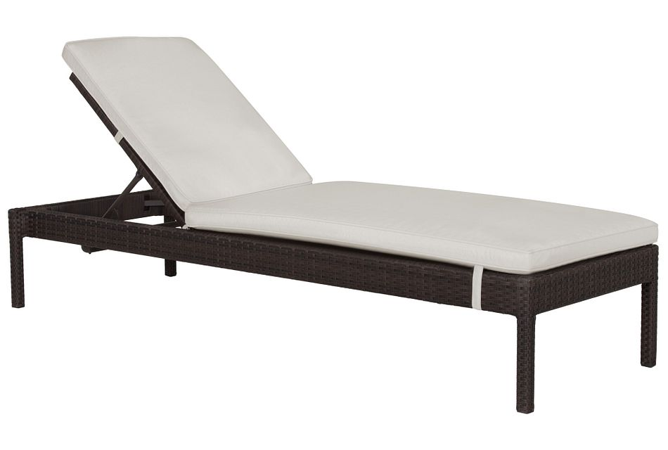 Zen White Cushioned Chaise