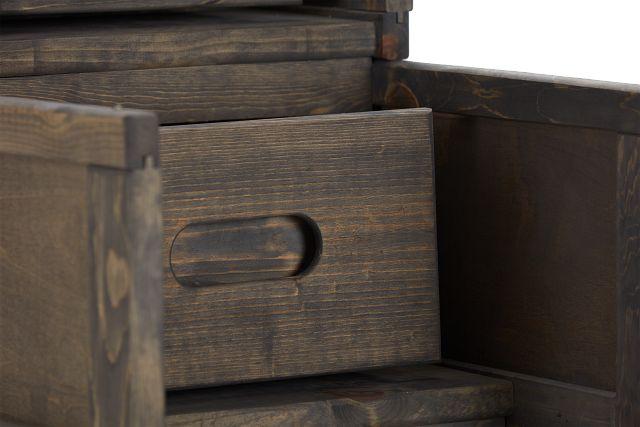 Cinnamon Gray Stairway Chest