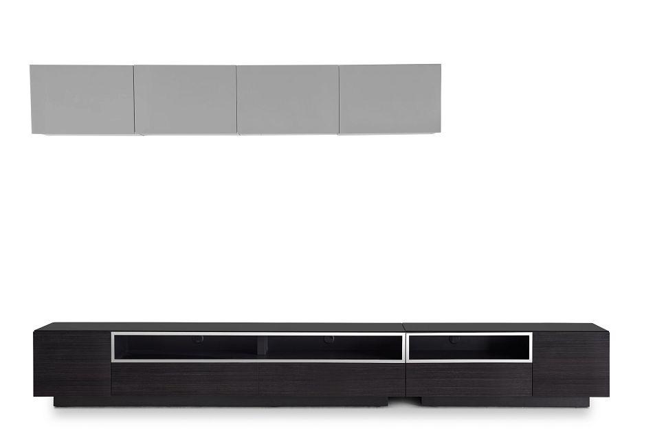 "Vancouver 134"" Dark Tone Gray 6-piece Left Modular Entertainment Wall"
