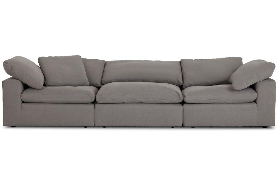 Nixon Light Gray Fabric 3 Piece Modular Sofa,  (1)