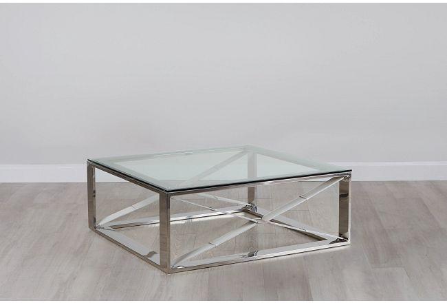 Mavis Glass Square Coffee Table