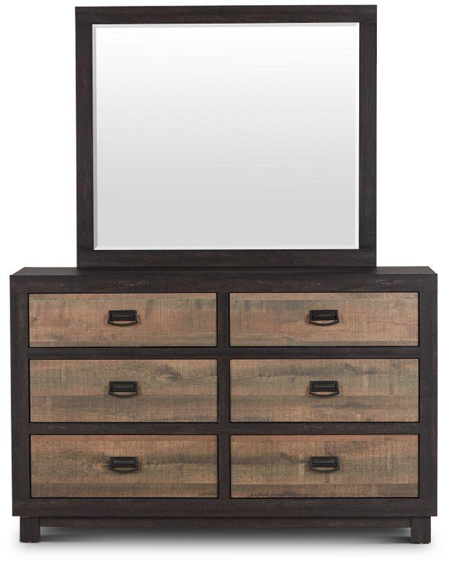 Harlington Dark Tone Dresser & Mirror (2)