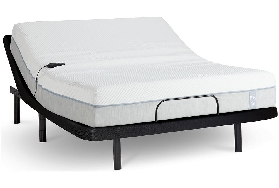 "Rest & Renew Cooling Memory Foam 11"" Gold Adjustable Mattress Set"