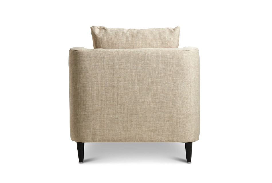 Novara Light Beige Fabric Accent Chair,  (3)